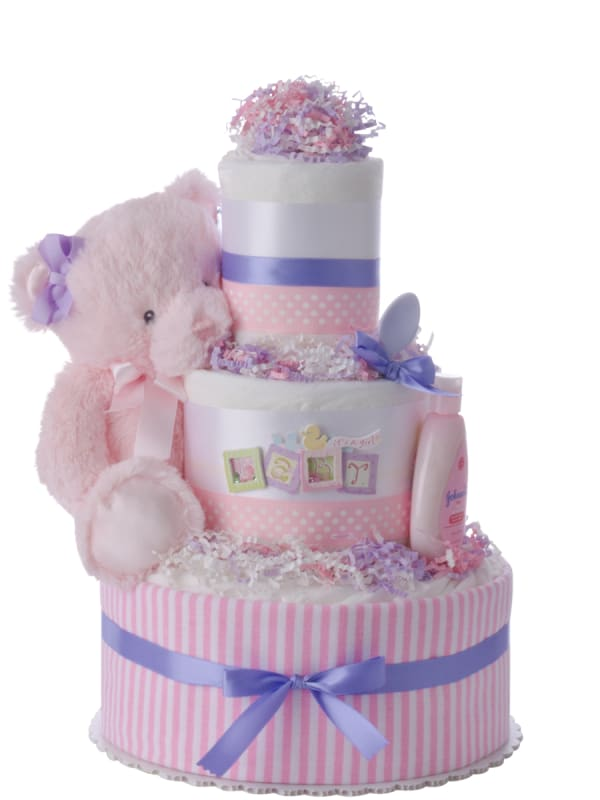 Baby Blocks Diaper Cake for Girls