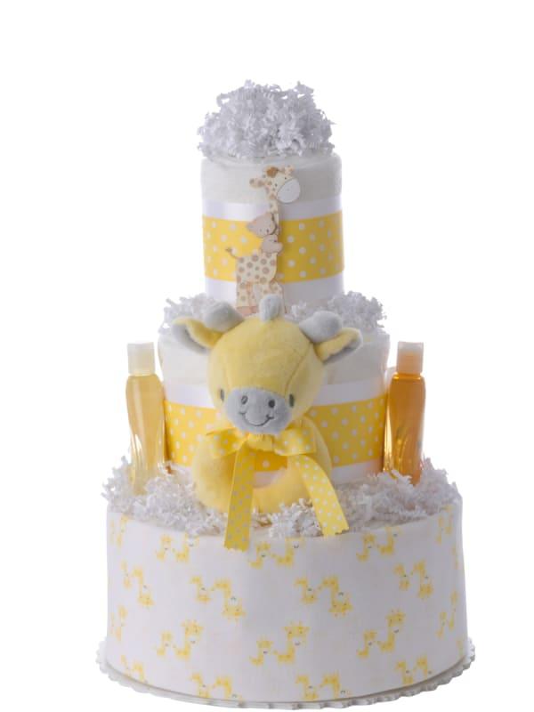 Baby Giraffe 3 Tier Diaper Cake