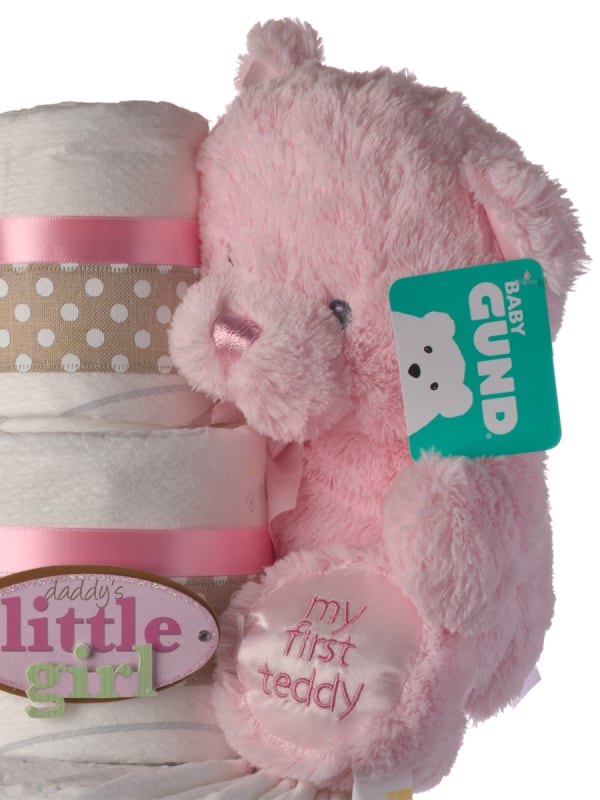 Daddy's Little Girl 4 Tier Diaper Cake