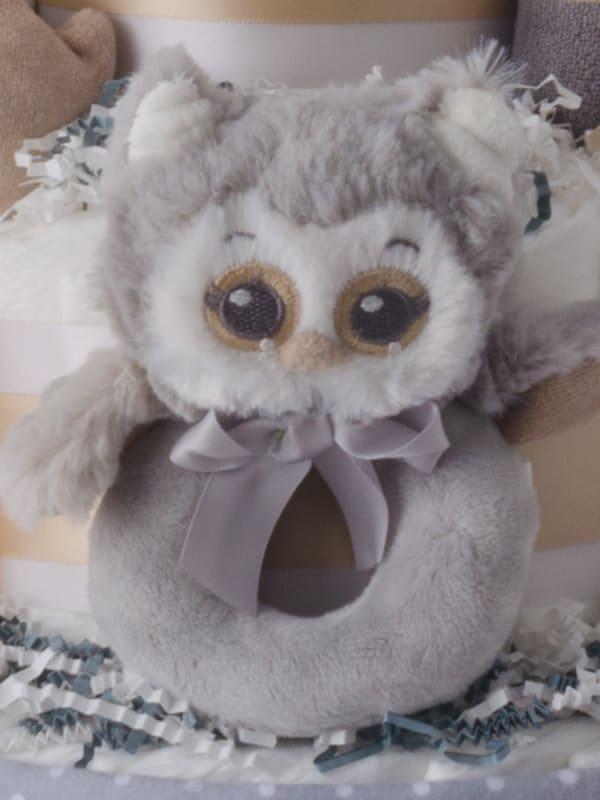 Lil Owl 4 Tier Diaper Cake