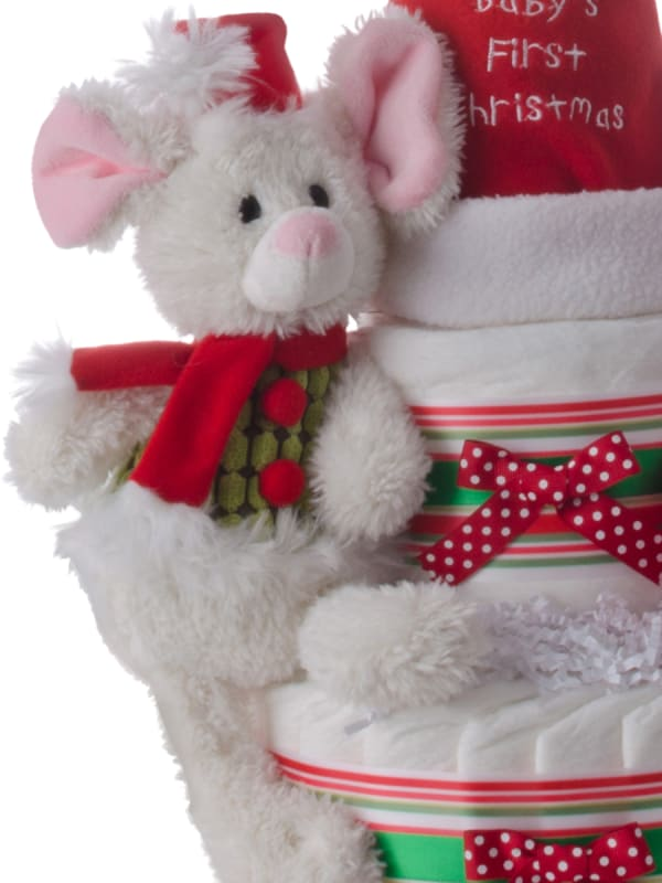 Christmas Mouse Holiday Diaper Cake