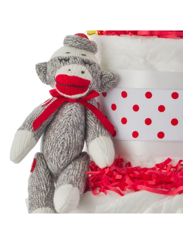 Sammy Socks Holiday 4 Tier Diaper Cake