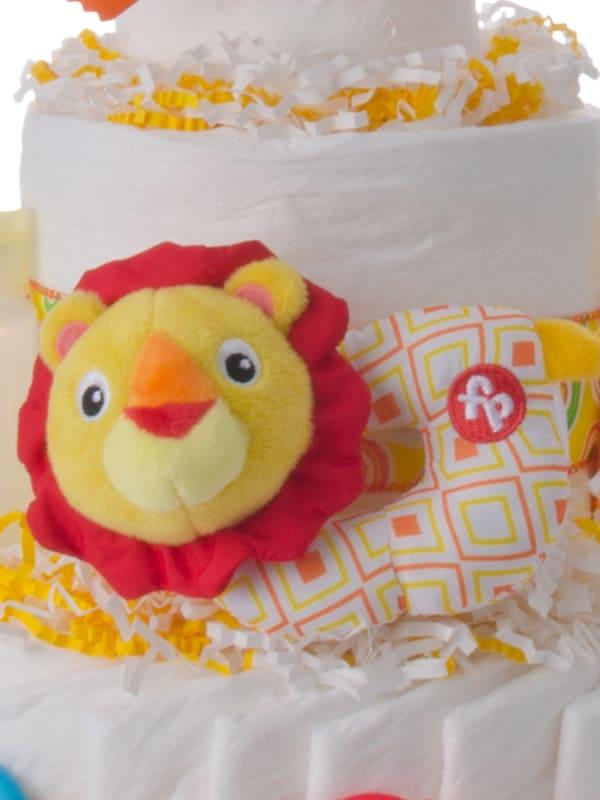 Fun Time Lion Baby Diaper Cake