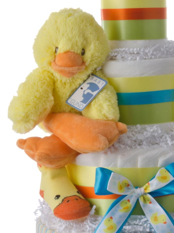 Fuzzy Duck 4 Tier Diaper Cake