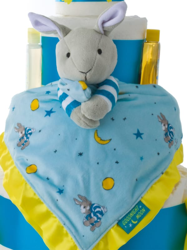 Goodnight Moon 4 Tier Baby Diaper Cake with book