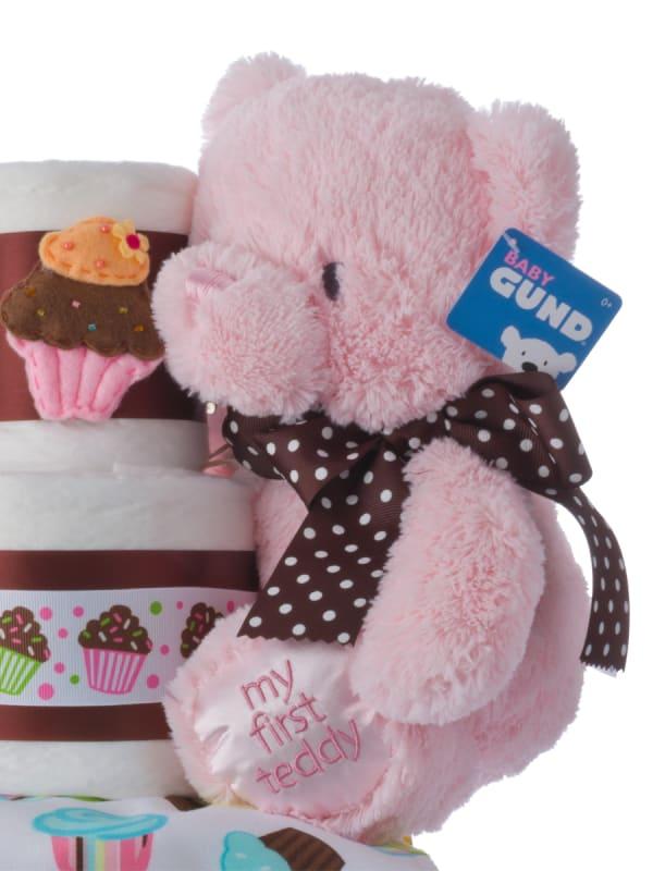 Lil' Miss Cupcake Baby Diaper Cake