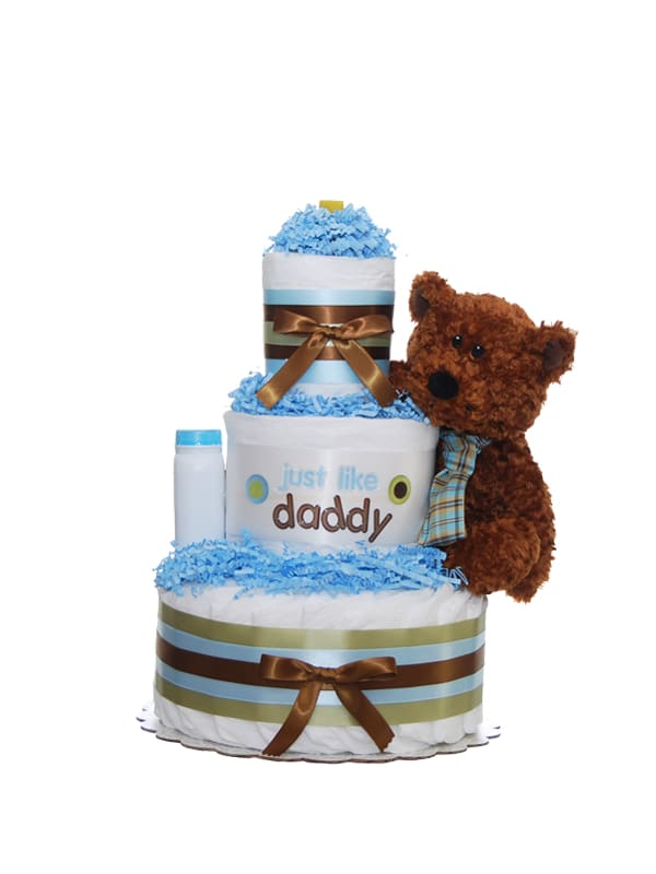 Just Like Daddy 3 Tier Diaper Cake