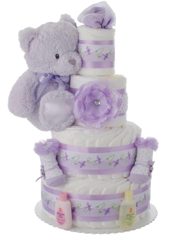 Lil Lavender Lady 4 Tier Diaper Cake