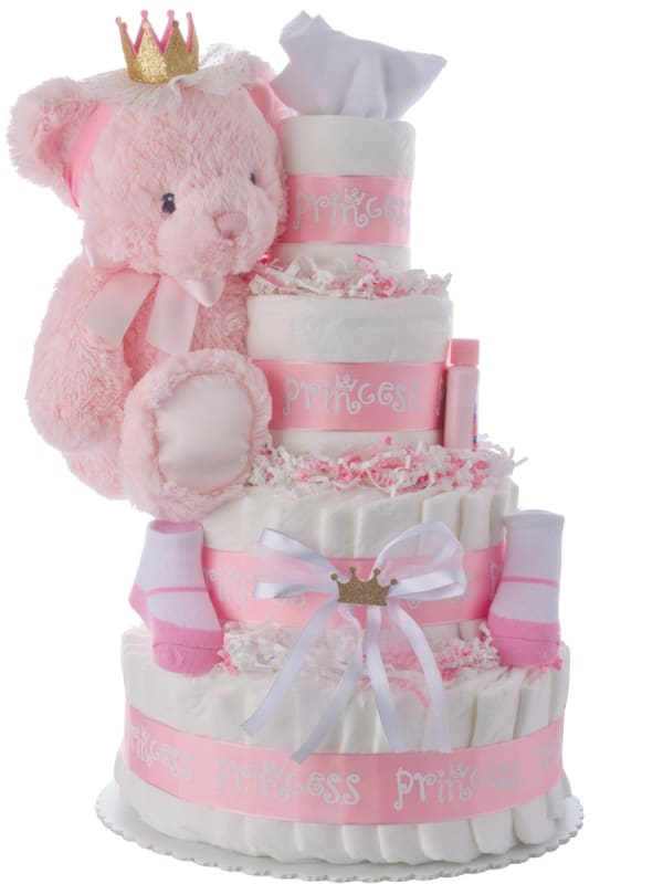 Lil Princess 4 Tier Diaper Cake