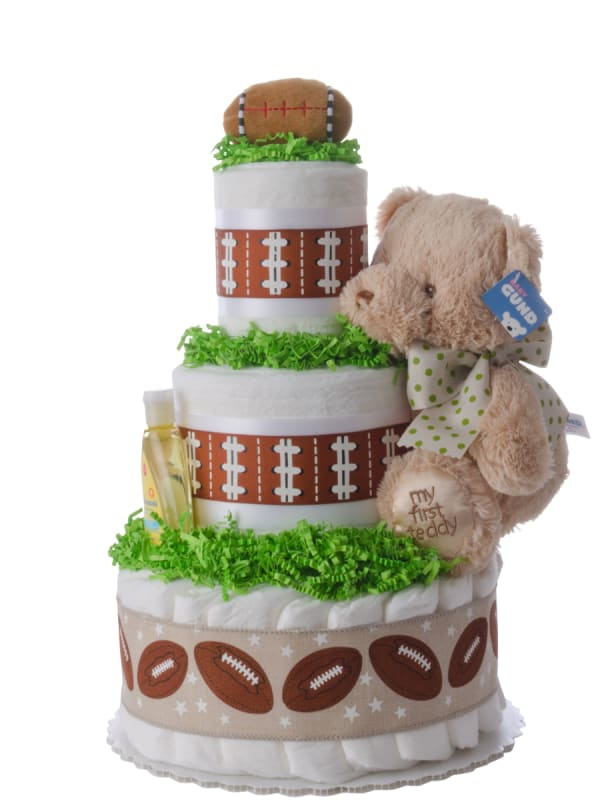 Lil' Sports Star 3 Tier Diaper Cake