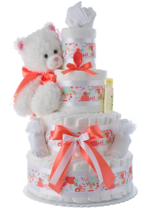 My Adorable Kitty Baby Shower Diaper Cake