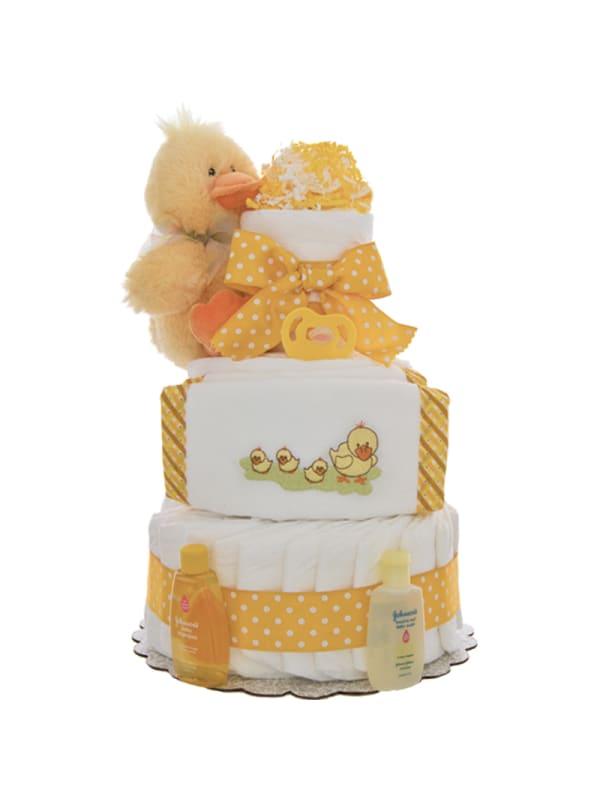 Momma Duck 3 Tier Diaper Cake