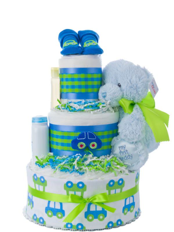 My Lil Car Boy's Diaper Cake