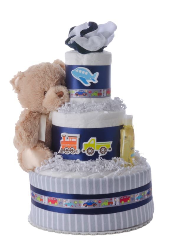 Planes Trains Automobile Boys Diaper Cake