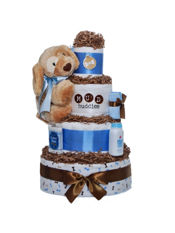 Lil Puppy 4 Tier Diaper Cake