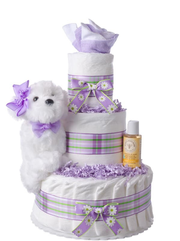 Puppy Love Pampers Diaper Cake