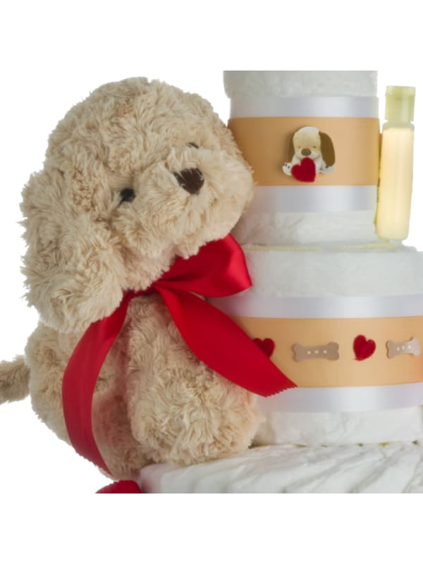 Lil' Baby Cakes Puppy Love Diaper Cake