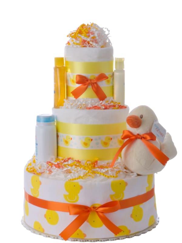 Lil' Yellow Duck Baby Diaper Cake