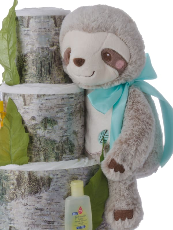 Sammy the Slouth Neutral Diaper Cake