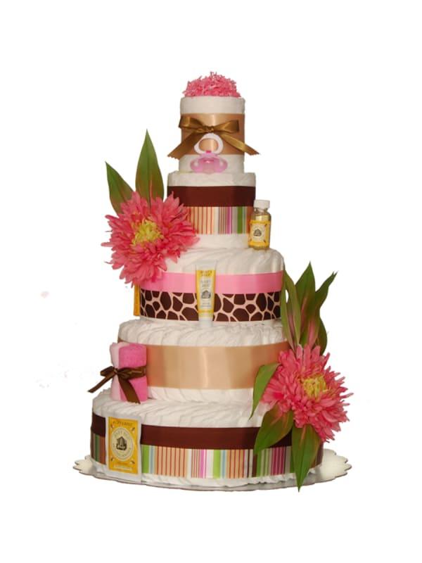 Tahitian 5 Tier Diaper Cake