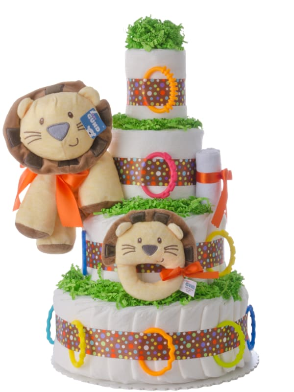 Welcome to the Circus 4 Tier Diaper Cake