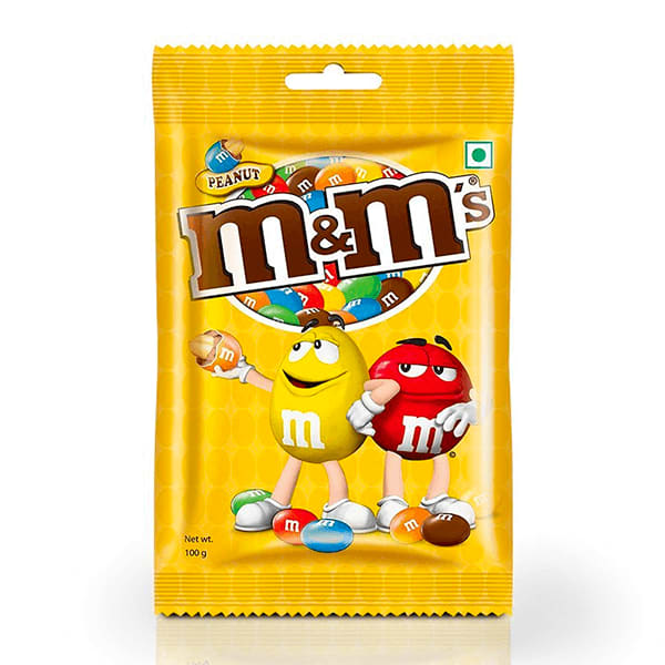 M&M's Peanut Coated With Milk Chocolate,100g (Pack Of 2)