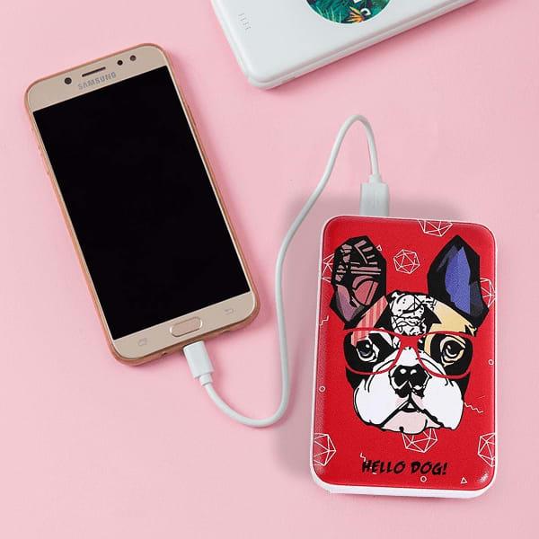 Hello Dog Digital Printed 10000mAh Dual USB Power Bank