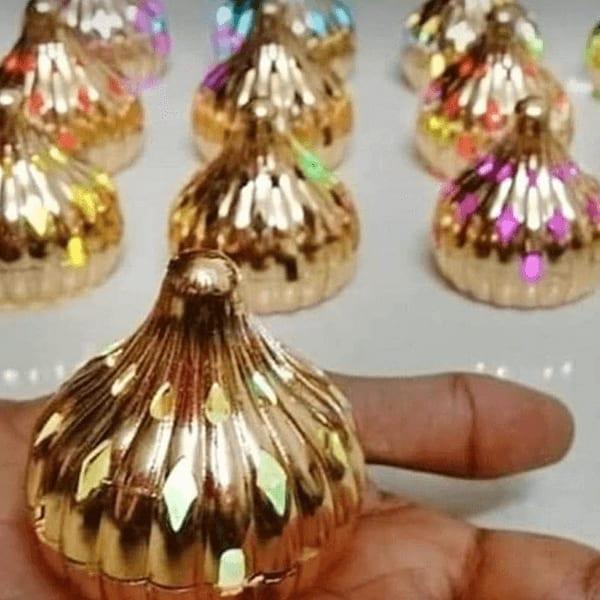 Ganpati Festival Special-LED Light Modak (set of 4)