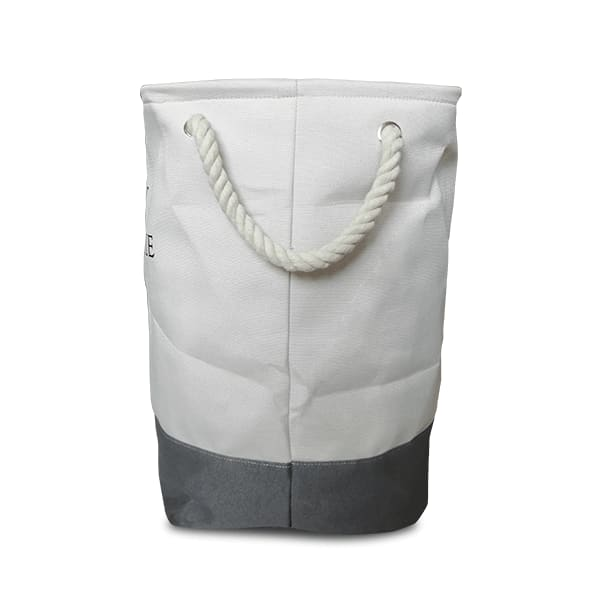 Multipurpose Square Shape Foldable Open Laundry Bag(White & Grey)