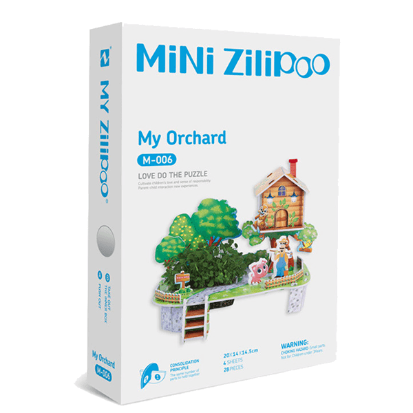 Mini Zilipoo 3D Puzzles With Actual Seeds (Small Size - Assorted Puzzles)