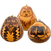 CDAH117 Cat Gourd Ornament