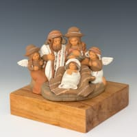 FIN115M Nativity with Angels
