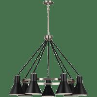 Towner Seven Light Chandelier Brushed Nickel Bulbs Inc