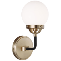 Cafe One Light Wall Sconce Satin Brass