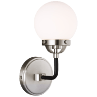 Cafe One Light Wall Sconce Brushed Nickel Bulbs Inc