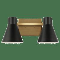 Towner Two Light Wall / Bath Satin Brass