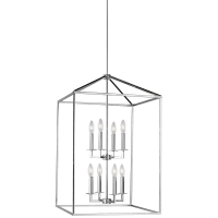 Perryton Large Eight Light Hall / Foyer Chrome