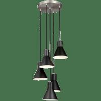 Towner Five Light Cluster Pendant Brushed Nickel Bulbs Inc