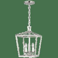 Dianna Three Light Mini Lantern Brushed Nickel