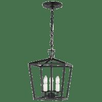 Dianna Three Light Mini Lantern Midnight Black Bulbs Inc
