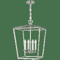 Dianna Four Light Medium Lantern Brushed Nickel Bulbs Inc