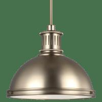 Pratt Street Metal Three Light Pendant Satin Brass Bulbs Inc