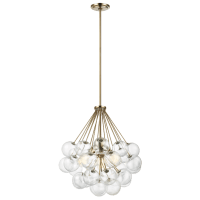 Bronzeville Three Light Pendant Satin Brass