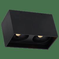 "Exo 6 Dual Flush Mount 6.1"" Matte Black Black 2700K LED 90 CRI 120v 277v UNV 20"