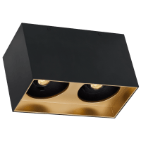 "Exo 6 Dual Flush Mount 6.1"" Matte Black Gold Haze 2700K LED 90 CRI 120v 277v UNV 30"