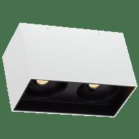 """Exo 6 Dual Flush Mount 6.1"""" Matte White Black 3000K LED 90 CRI 120v 277v UNV 60"""