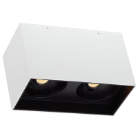 """Exo 6 Dual Flush Mount 6.1"""" Matte White Black 3500K LED 90 CRI 120v 277v UNV 60"""