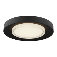 Hilo 16 Flush Mount nightshade black 2700K 90 CRI integrated led 90 cri 2700k 120v-277v unv