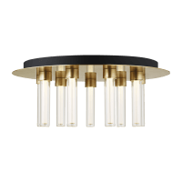 Kola 22 Flush Mount Natural Brass 2700K 90 CRI Integrated LED 90 CRI 2700K 120v