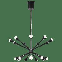 Lody 18-Light Chandelier 18-Light Chandelier Matte Black 3000K 90 CRI LED 90 CRI 3000k 120v-277v unv (t20/t24)